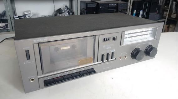 Tape Deck Sharp Rt-10b, Item Colecionável, Funcionando, Veja