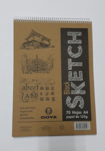 Block Sckech Tamaño A4 En Papel De 120 Grs