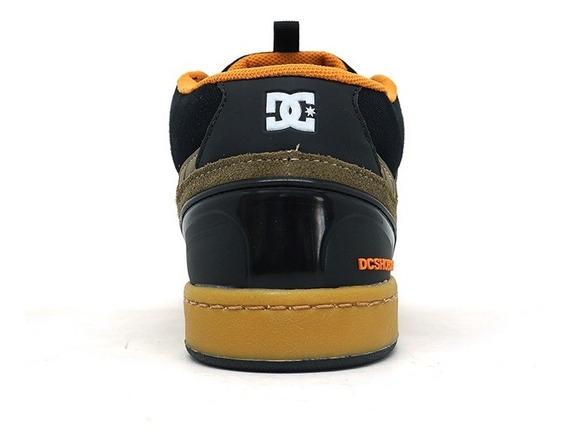 Tênis Dc Shoes Cole Signature Mid Couro Preto E Laranja Pmc