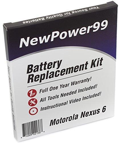 Kit De Reemplazo De Batería Motorola Nexus 6 Con Dvd De Ins