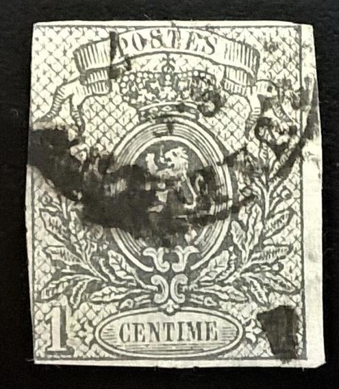 Bélgica, Sello Yv 22 Escudo 1c Sin Dentar 1866 Usado L12652