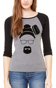Playera Heisenberg Breaking Bad Raglan #380