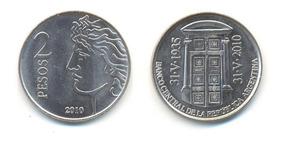 Moneda $2 Banco Central Arg. (75 Aniversario) Año 2010 C/u