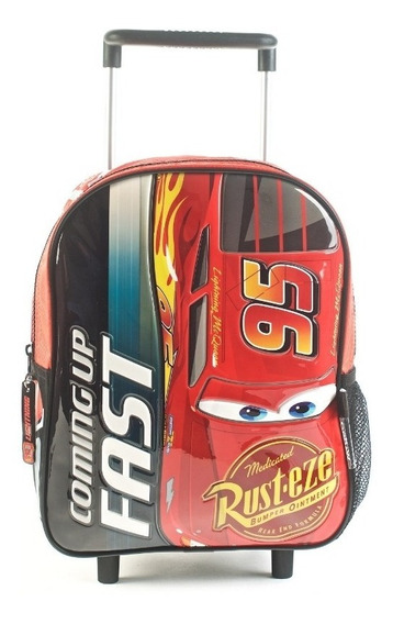 Mochila Cars Coming Up Fast Rojo Con Carro