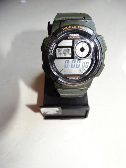 Relógio Masculino Casio Ae1000w-1bwt Resiste 100m Profund.
