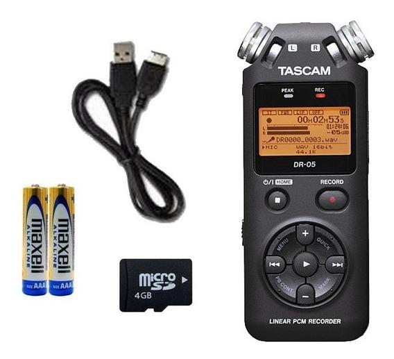 Gravador Tascam Dr-05v2 - Cartão Microsd 4gb