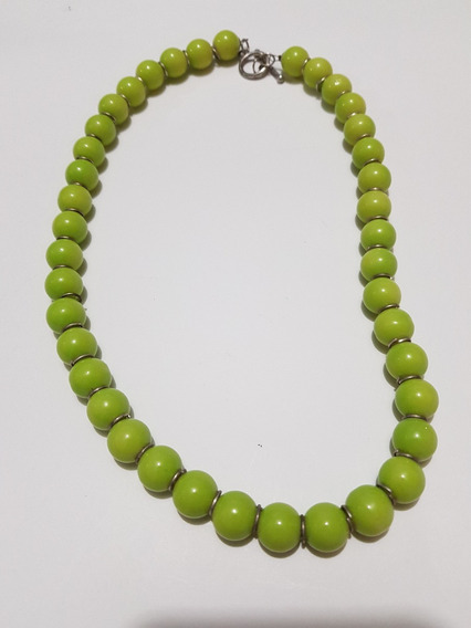 Gargantilla Perla Verde Manzana
