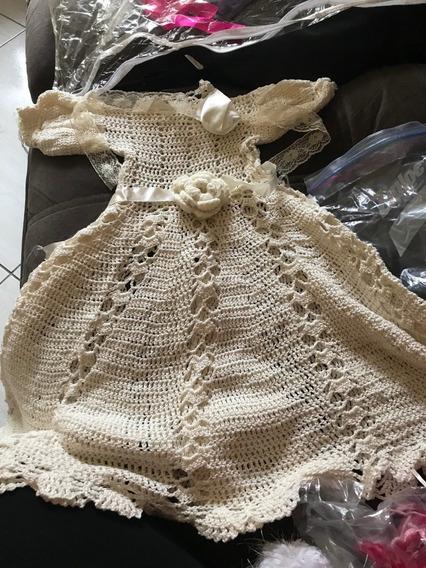 Vestido De Crochê Newborn
