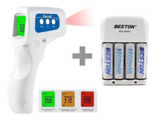 Termometro Infrarrojo Berrcom + Cargador Baterias Aa X4
