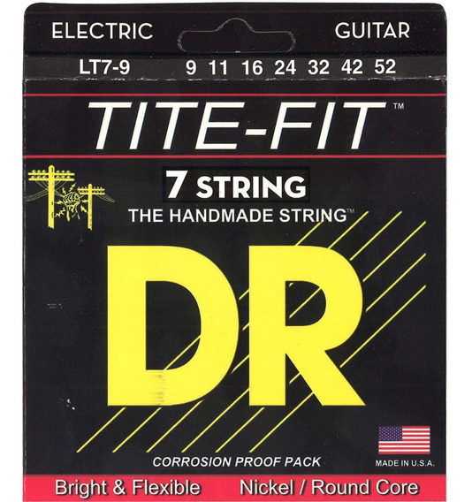 Set De 7 Cuerdas Dr Para Guitarra Electrica Tite Fit 9-42-52