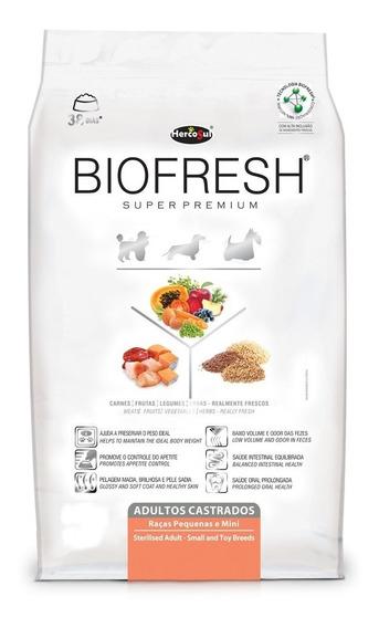 Ração Biofresh Castrados Raças Pequenas E Mini 12kg