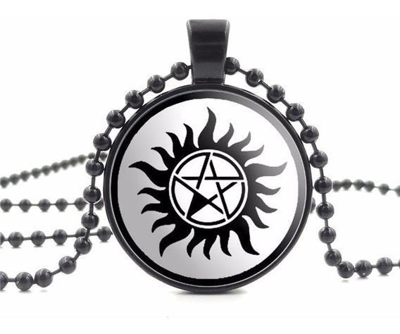 Colar Supernatural Tatuagem Pentagrama Pronta Entrega