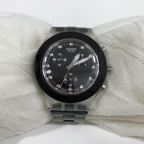 Relógio Swatch Preto Feminino Usado Ótimo Estado Original