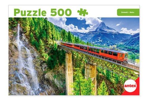 Antex Puzzle 500 Piezas Suiza Tren En Zermatt 3070 E. Full