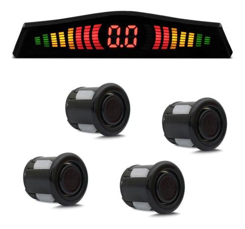 Sensor De Estacionamento 4 Pontos Preto Com Led Colorido