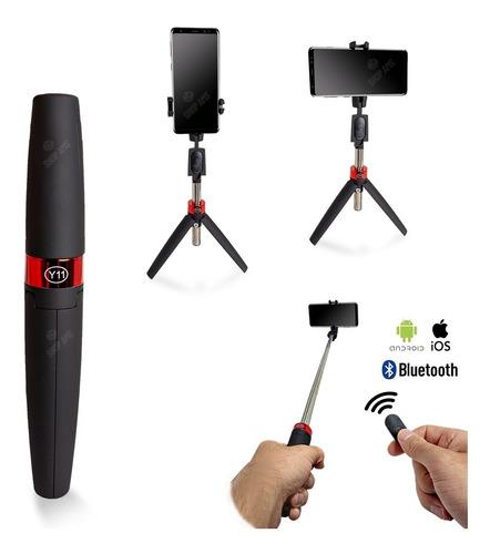 Imagem 1 de 8 de Tripé Celular Bastão Selfie Com Rotação Bluetooth Modelo Y11