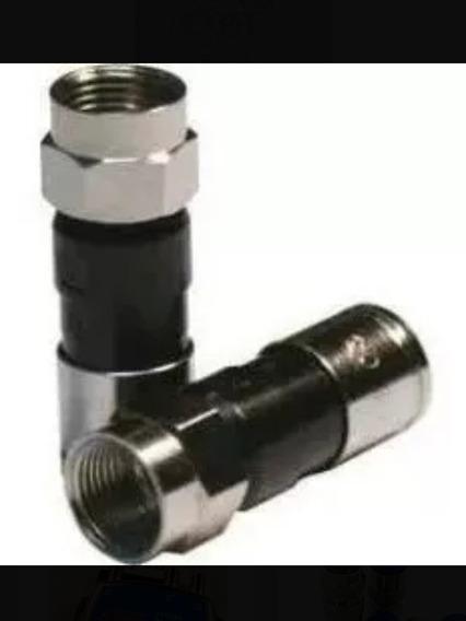 Conectores Rg6 De Compresión Para Cable De Coaxial Rg6