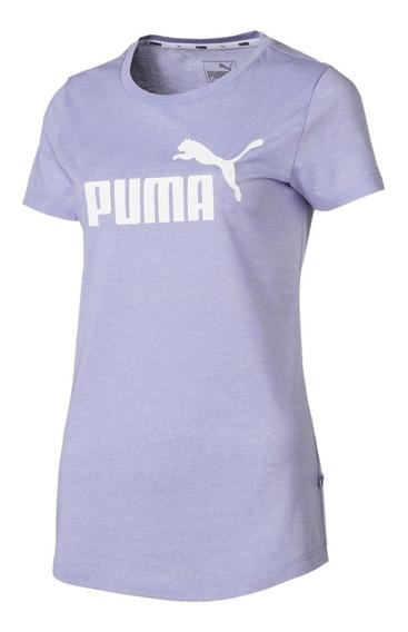 Remera Puma Moda Ess+ Logo Heather Mujer Li