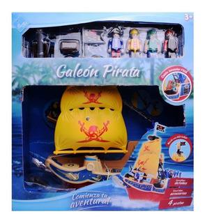 Galeon Pirata Playset El Duende Azul Ln3 6443 Ellobo