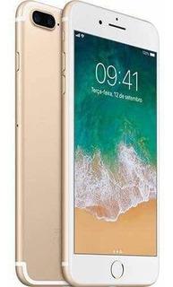 iPhone 7 Plus 128gb Gold Novo Lacrado 1 Ano Garantia Apple