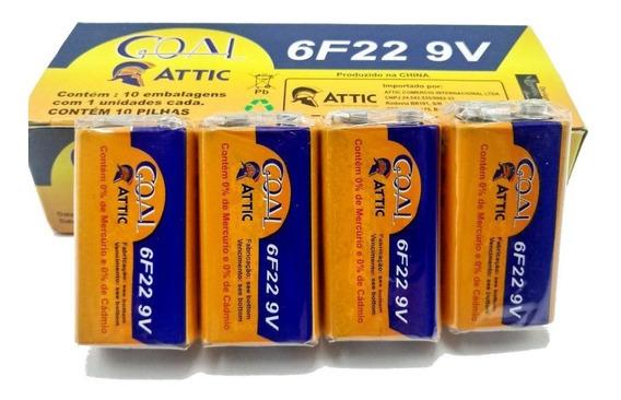 Bateria 9v Kit Com 5x Caixas 50x Unidades Barato Promoção Revenda Atacado