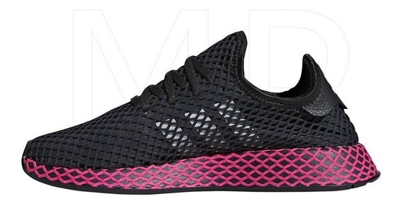 Tenis adidas Deerupt Runner Shoes Negro Rosa Dama