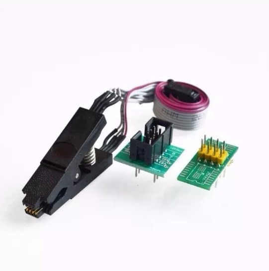 Alicate Pinça Clip Soic8 Sop8 Eprom Cabo Soquete 150 200 Mil