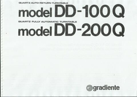 Manual Toca-discos Gradiente Dd100q - Cópia Digital 12 Pags
