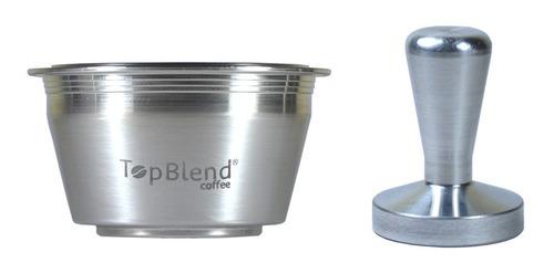 Imagem 1 de 5 de Cápsula Reutilizável Dolce Gusto Recarregável Topblend +tamp