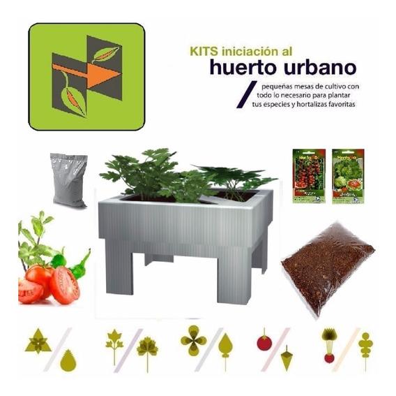 Kit Con Mini Huerto, Sustrato Y Semillas Para Niños