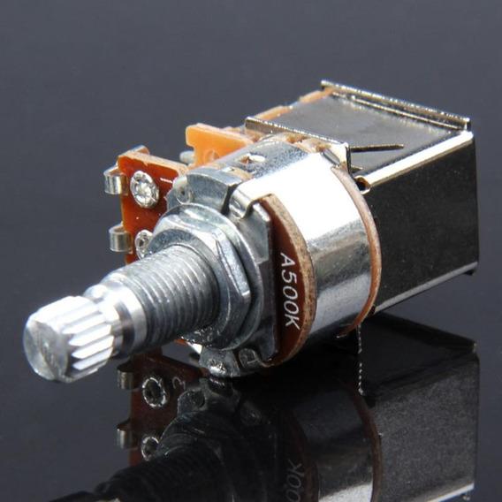 Potenciômetro Push Pull A500k Haste 18mm P/ Guitarra E Baixo