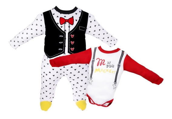 Set 2pz Pañalero Bb Ideal Disney Mameluco Mickey