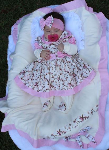Kit Saída De Maternidade Menina Charmosa Rosa- 5 Peças