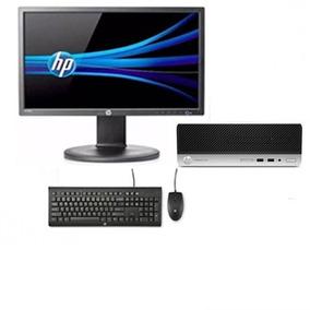 Monitor + Cpu Hp Prodesk 400g4 I3 7ger - Novo