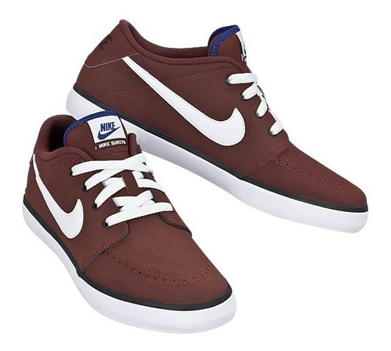 Tênis Nike Masculino Suketo Leather - Bordo/bco