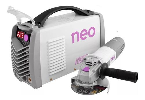 Soldadora Electrodo Neo + Esmeriladora Discos Ie10225aa1025