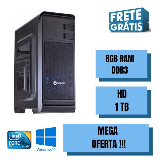 Cpu Core 2 Duo 8gb Ram Hd 1tb Windows 10 - Wi-fi - Nova