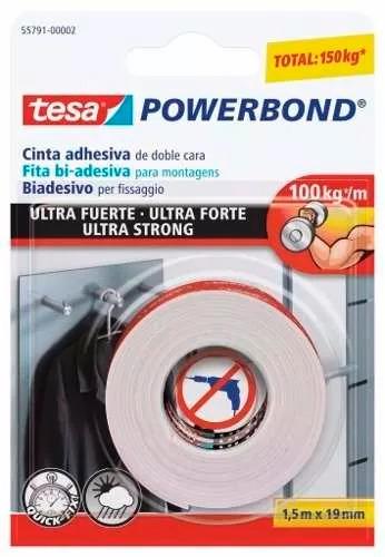 Cinta Adhesiva Doble Faz Super Fuerte 19mm X 1,5mtros Tesa