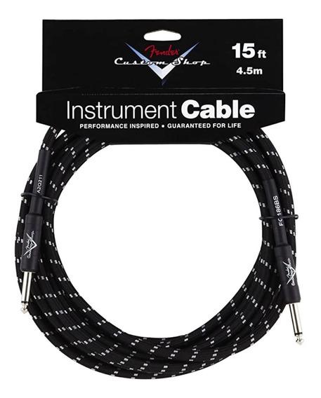 Cable Para Instrumento Fender Custom Shop Fg15bs Black Tweed