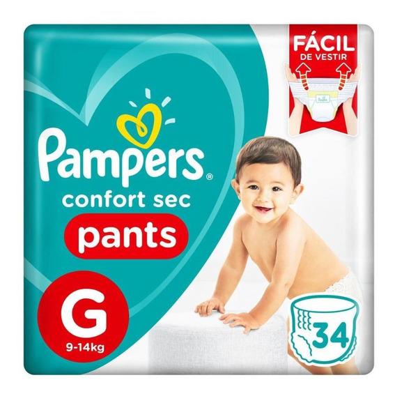 Fralda Pampers Confort Sec Pants Tamanho G 34 Tiras