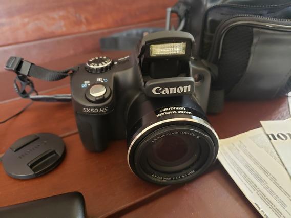 Câmera Canon Powershot Sx50 Hs Super Zoom Com Acessórios