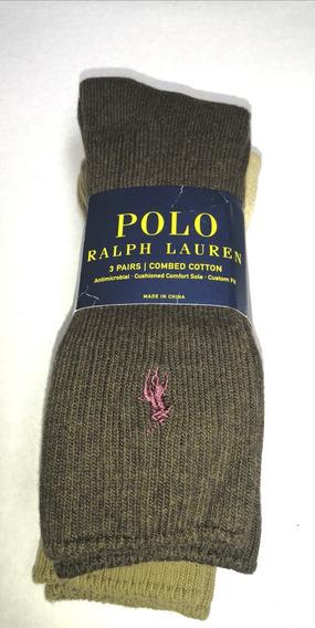 Combo 3 Pares De Calcetas Polo Ralph Lauren Envío Gratis