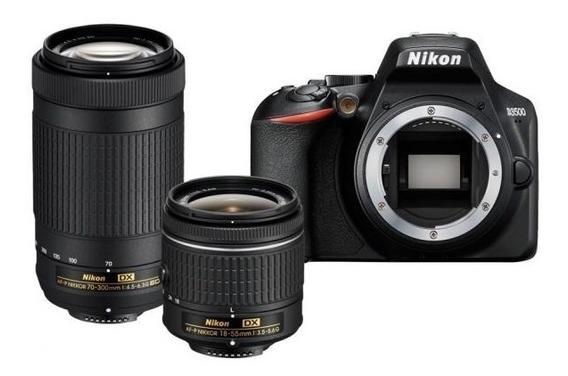 Camara Nikon D3500 + 18-55mm Y 70-300 Mm