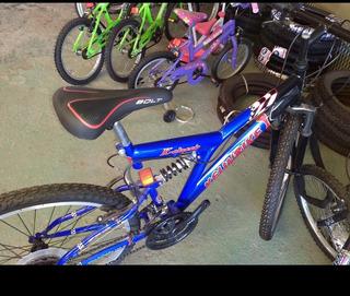 Bicicleta Mountain Bike R 26 Doble Suspensión Shim Kelinbike