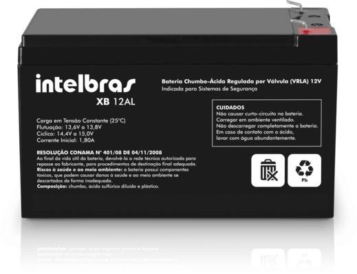 Bateria De Chumbo-ácido 12v - Xb 12al Intelbras