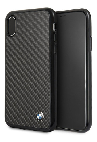 Forro Funda Bmw Signature Fibra Carbono iPhone X/xs Original