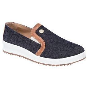 Zapatos Sneaker Flats Dash Dama Textil Azul Dtt 27766