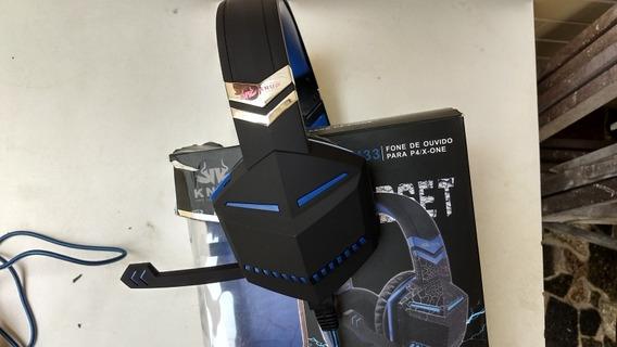 Fone De Ouvido Headfone Knup- Kp433- Para P4/x-one Para Game