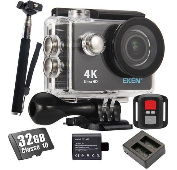 Câmera Sport 4k Eken H9r + 32gb +bateria +bastão +carregador