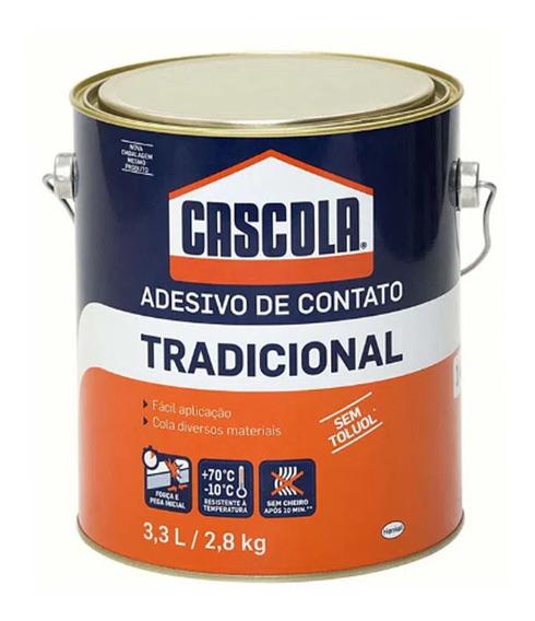 Cola Cascola Tradicional Adesivo Contato Revestimento 3,3 L